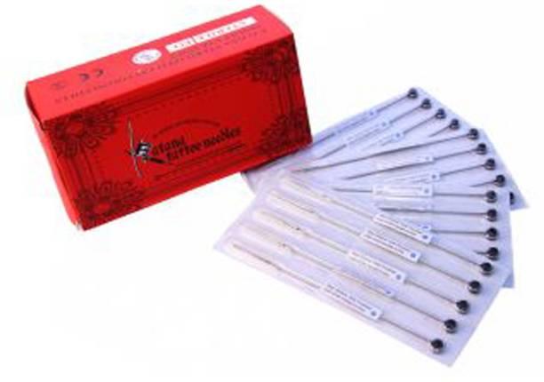 Mumbai Tattoo RED MIX BOX (PACK OF 50) Disposable Round, Round Liner, Round Shader Tattoo Needles