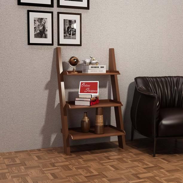 Onlineshoppee Escalera Leaning Bookcase Engineered Wood Open Book Shelf