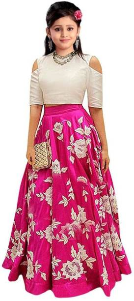 7429e724e1f3 F Plus Fashion Girl's Lehenga Choli Western Wear Embroidered Lehenga Choli