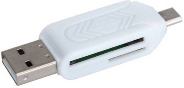 Apro Multi device connect OTG Micro SD+TF Card Reader (Multicolor) Card Reader