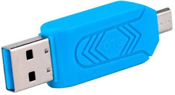 Apro Super Mini OTG Micro SD+TF Card Reader (Multicolor) Card Reader