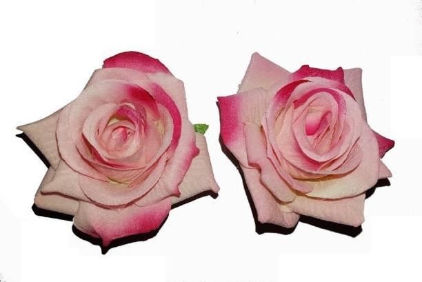 Bridal hair accessories buy bridal hair accessories online at best fully flower hair accessories for bridal women and girlslight dark pink hair mightylinksfo