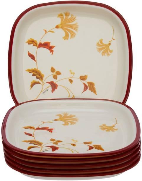 NAYASA Floral Brown Quarter Plate