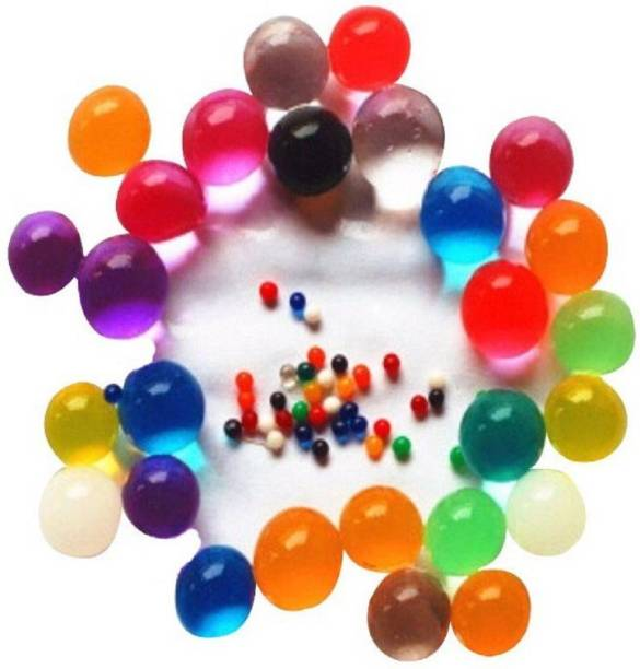 Something4u Multicolor Colorful Magic Crystal Water Jelly Balls Mud Soil Beads 55 Gram Pack Approx