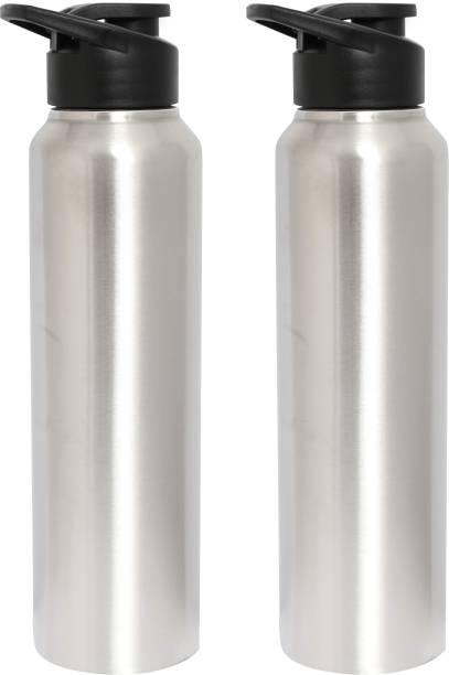 c2744db684 Zafos Chromo Sipper Stainless Steel Fridge Water Bottle (Pack-2) 1000 ml-