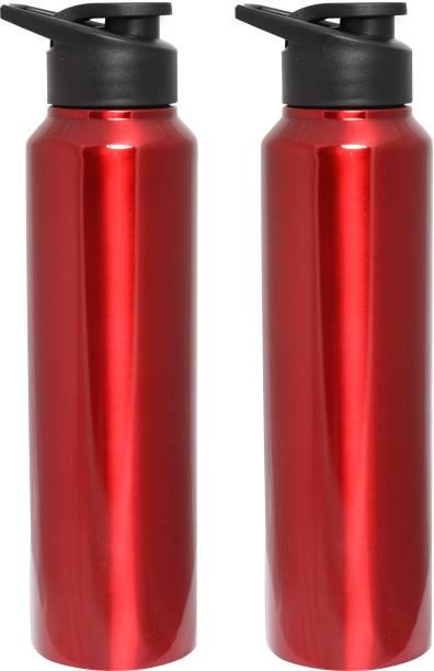 de334fd5ff Zafos Chromo Sipper Stainless Steel Fridge Water Bottle (Pack-2), 1000 ml