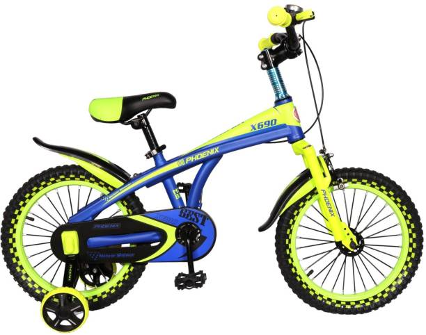 Phoenix YMX Motor Bikes For Kids Of Age 5-8Yrs Blue Green 16 T Recreation  Cycle 7457ba8f9