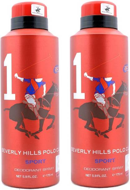 beverly hills Polo Club Sport No 1 Deodorant Combo pack of 2 (175ml each) Deodorant Spray  -  For Men