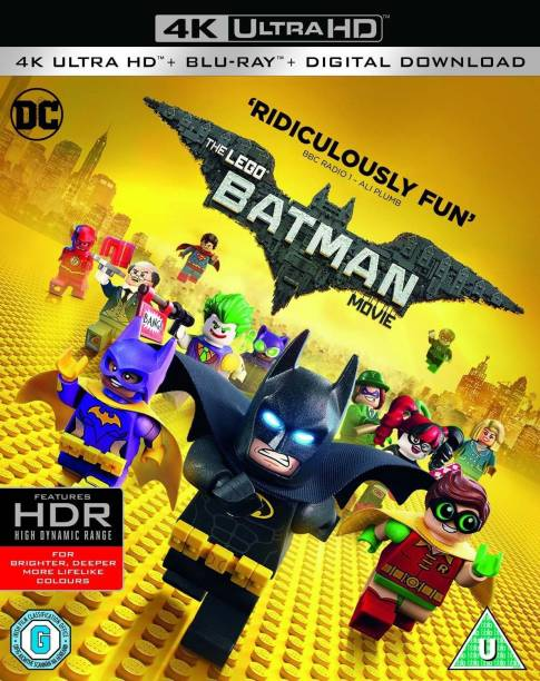 The Lego Batman Movie (4K UHD + Blu-ray + Digital HD) (2-Disc Set) (Region Free + Slipcase Packaging + Fully Packaged Import)