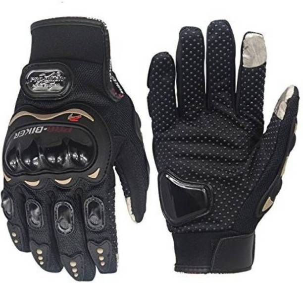 Probiker Smart Quick Sales Leather Motorcycle Gloves (Black, L) Cycling Gloves