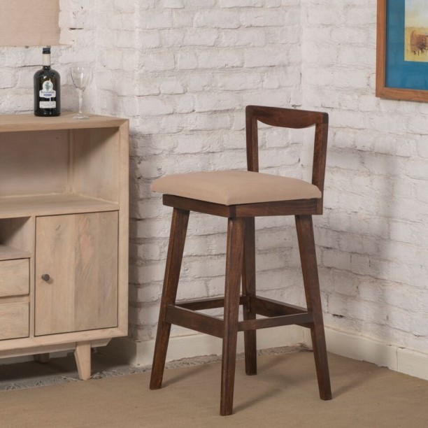 The Jaipur Living Solid Wood Bar Chair