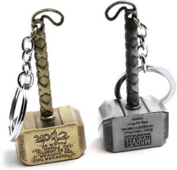 stuard Exclusive Silver And Golden Thor Hammer keychain Key Chain (Gold, Silver) s1 Key Chain