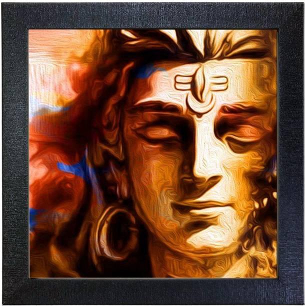 SEHAZ ARTWORKS SZA-Shiva_005 Ink 12 inch x 12 inch Painting