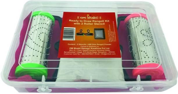 OM bhakti Pack of 2 Rangoli Powder