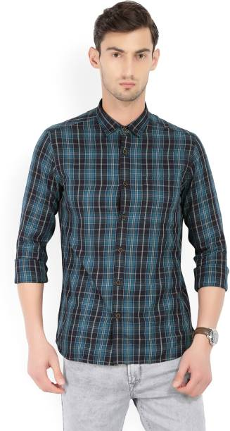 Scullers Men Checkered Casual Multicolor Shirt