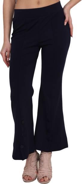 LGC Flared Women Dark Blue Trousers