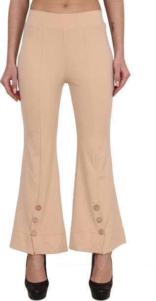 LGC Flared Women Beige Trousers