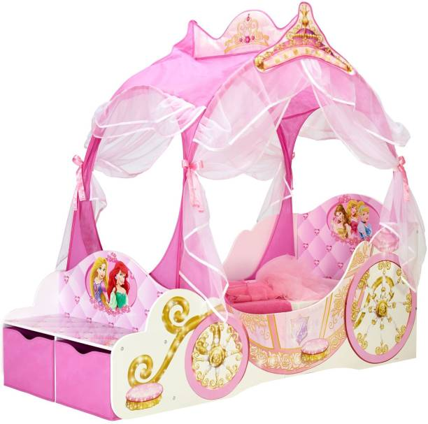 DISNEY Princess Carriage Toddler Solid Wood Single Box Bed