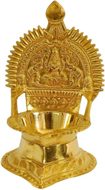 DreamKraft Antique Brass Diya For Puja and Home Festive Decoration Brass Table Diya