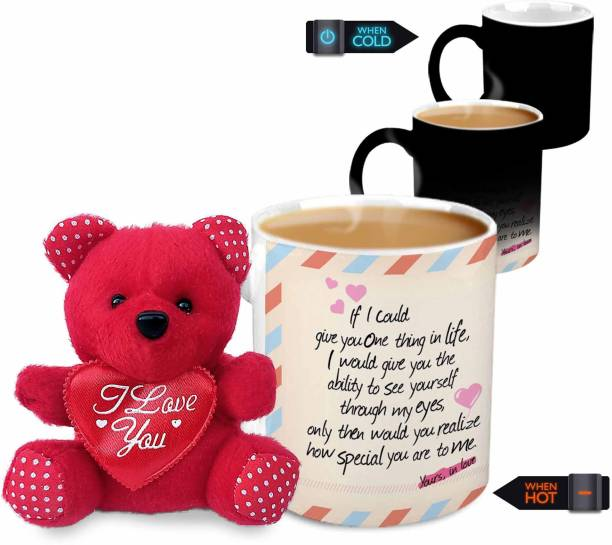 HOT MUGGS If I Could Give You One Thing Valentine with Teddy Ceramic Coffee Mug