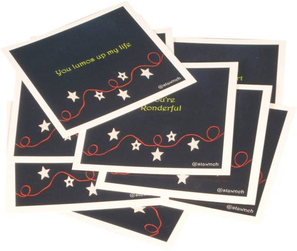 STAWNCH 8 HARRY POTTER REASONS WHY I LOVE YOU GREETING CARDS SET OF