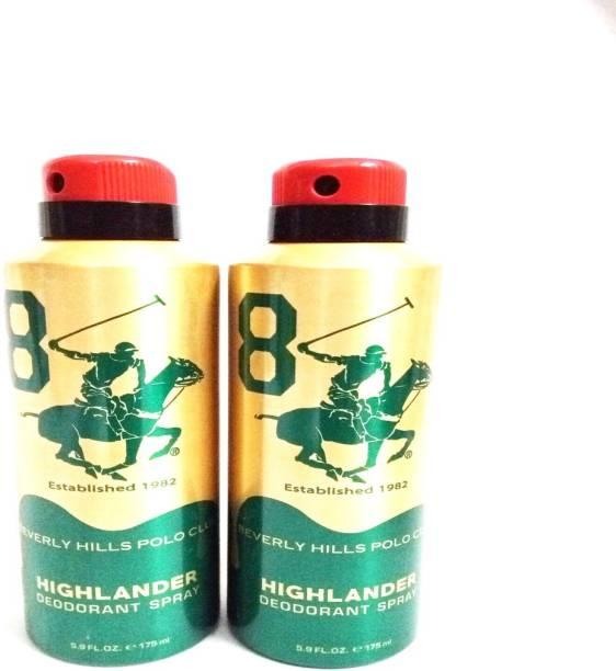 BEVERLY HILLS POLO CLUB HIGHLANDER Deodorant Spray  -  For Men