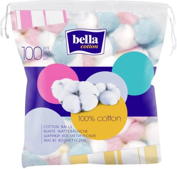 Bella COTTON COSMETIC BALLS COLOURED