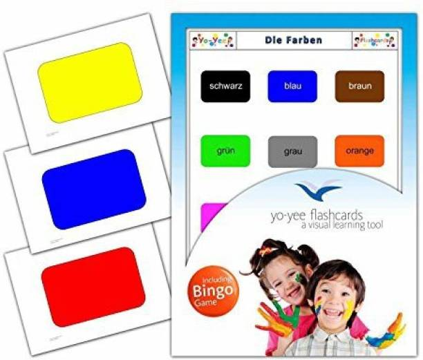 5ccc606b2 Yo Yee Education Colours Flashcards In English - Flash Cards With Matching  Bingo Game For Toddlers