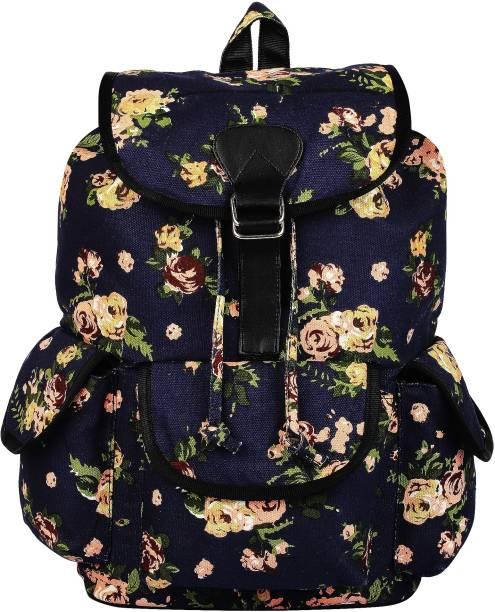 08117fbd7b Crafts My Dream craftsmydream women s backpack blue rose print 19 L Backpack