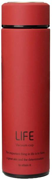 STYLE HOMEZ Double Wall Vacuum Flask Insulated Thermos Travel Water Bottle 500 ml - Stainless Steel Infuser with Strainer - (LIFE-RED) 500 ml Flask