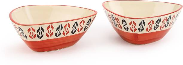 Kittens Handpainted Beautyfully Triangle Shaped Snack Bowls Ceramic Bowl Set