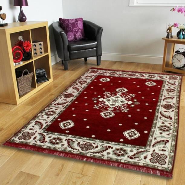 HOME BEST Multicolor Velvet, Chenille Carpet