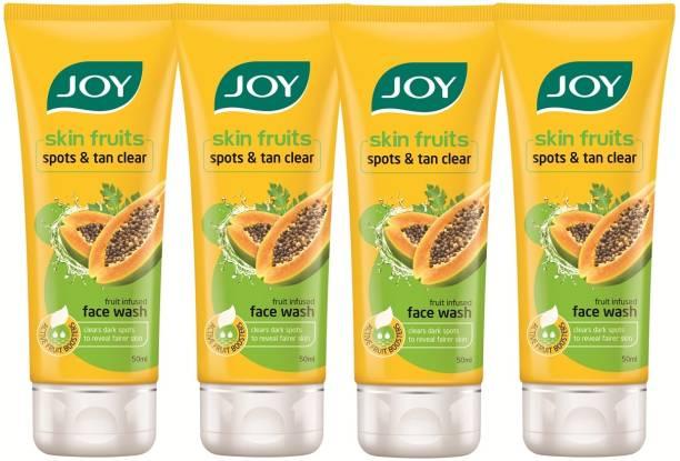 Joy Skin Fruits Spots & Tan Clear  (Papaya)(Pack of 4 x 50 ml) Face Wash