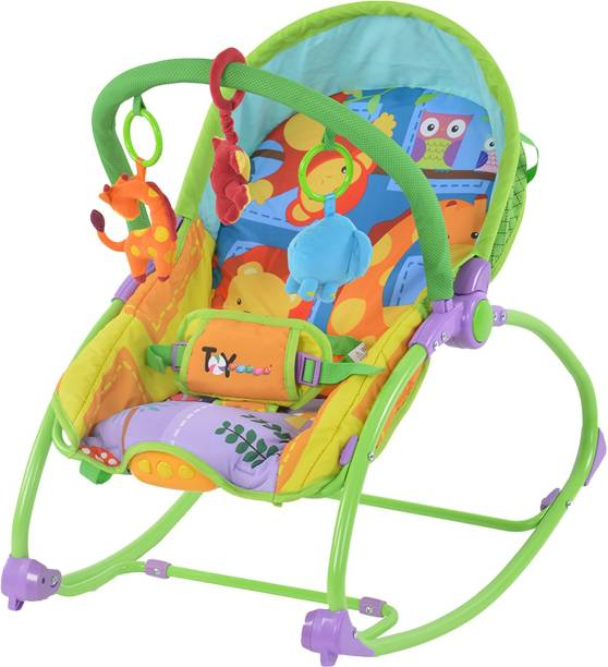 Toyhouse Rocking Chair n Baby Bouncer, Orange Rocker and Bouncer