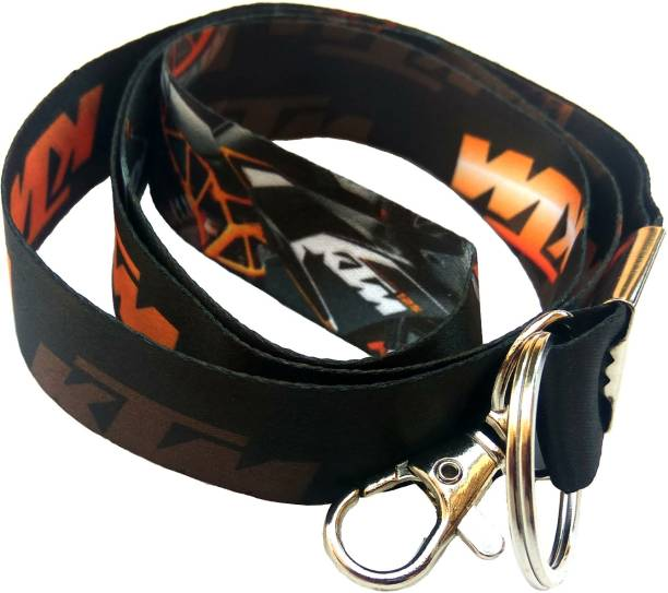 AVI Fabric ID tag with Black Color KTM Shaded Design Locking Key Chain