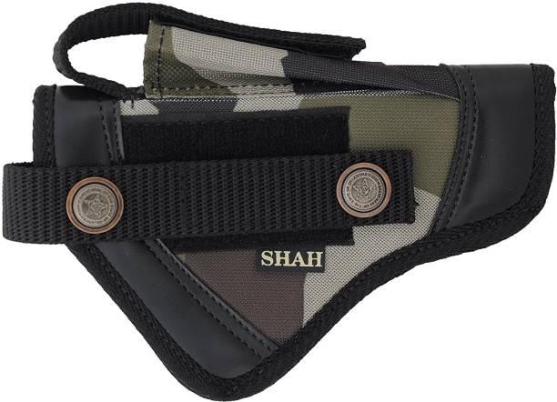 SHAH Nylon .9 mm Pistol Cover, 18 cm x 13 cm (BLACK) Racquet Carry Case/Cover Free Size