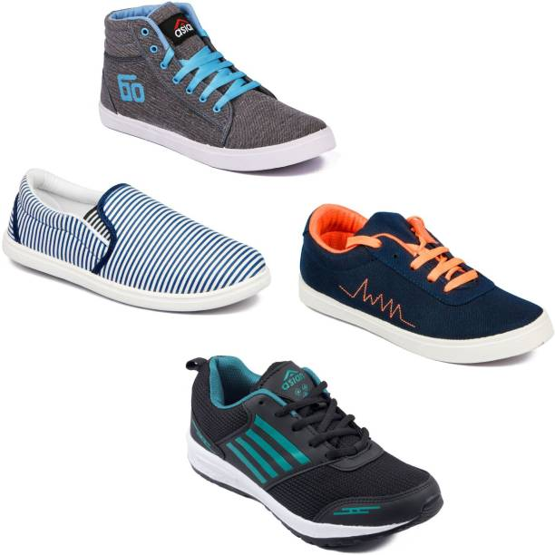 3dd9622bde9 OffersSpecial Price. Asian Men Casual   Running Shoes Combo Pack of 4  Casuals For Men