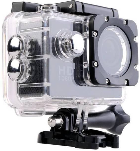 BENISON INDIA ™Full HD 12MP 1080P Black Helmet Waterproof Cam Holder Sports & Action Camera