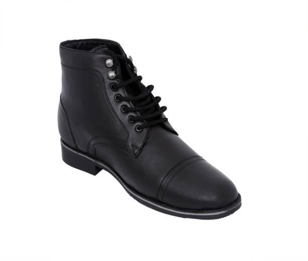 875bf64dffd celby Sharp black boot with height hidden heel for men Casuals For Men