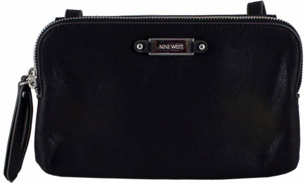 Nine West Women Casual Black Pu Sling Bag