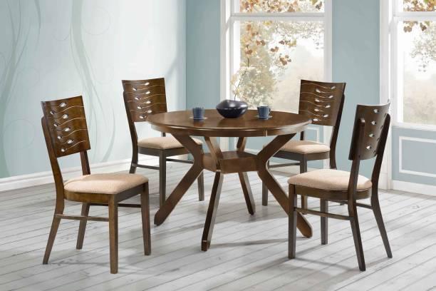 RoyalOak Rigel Solid Wood 4 Seater Dining Set
