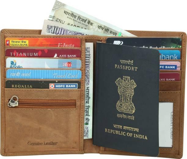 4e6d0d831 Kan Genuine Leather Passport Cover(2 Passports) Travel Document Holder Card  Holder