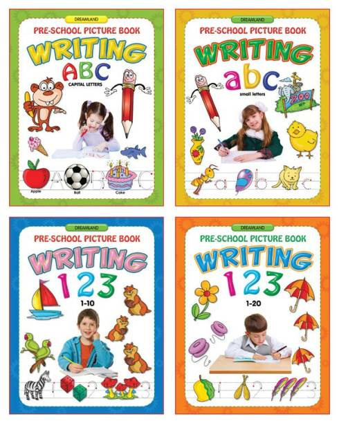 Pre - School Picture Books Writing - Alphabets and Numbers (Set of 4 )
