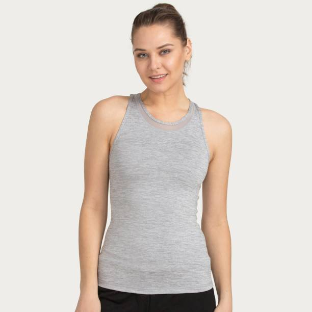 b2150c9bc46f36 Zelocity By Zivame Casual Sleeveless Solid Women s Grey Top