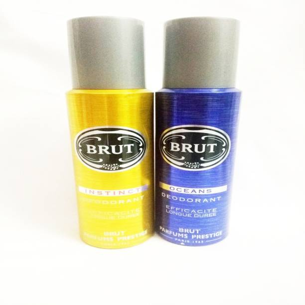 BRUT INSTINCT AND OCEANS Deodorant Spray  -  For Men