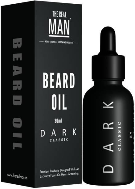 THE REAL MAN Beard & Mustache Oil Dark Classic 30Ml Hair Oil