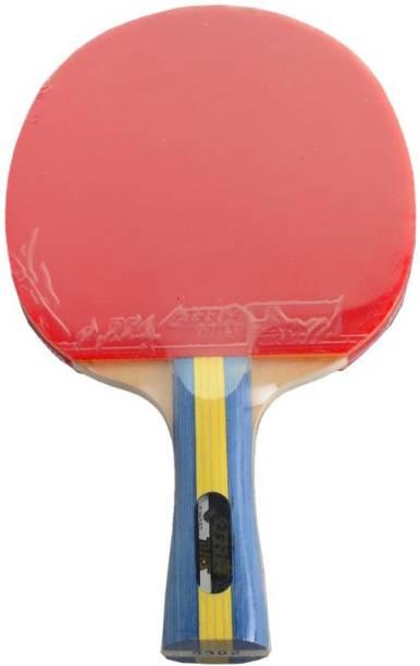DHS TT Bat S-S302 Red, Black Table Tennis Racquet