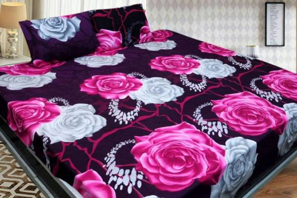 SHIVAAY HOMES 150 TC Polycotton Double Floral Bedsheet