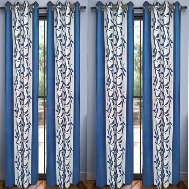 G S Collections 212 Cm 18 Ft Polyester Door Curtain Pack Of 4