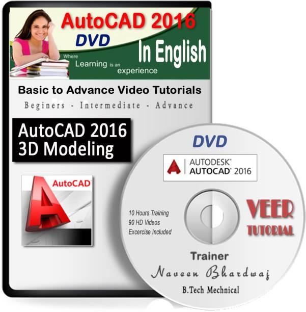 veertutorial AutoCAD 2016 2D-3D Modelling Video Course (1 DVD, 10 Hrs, 92 Videos